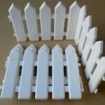 hàng rào nhựa trắng